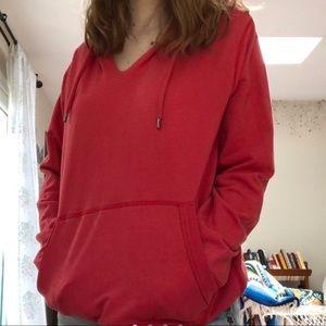 red gap hoodie